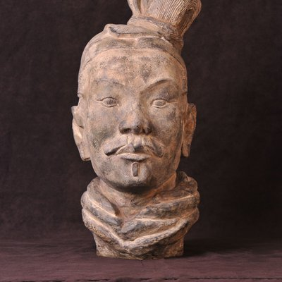 Plaster Bust Head of Chinese figure